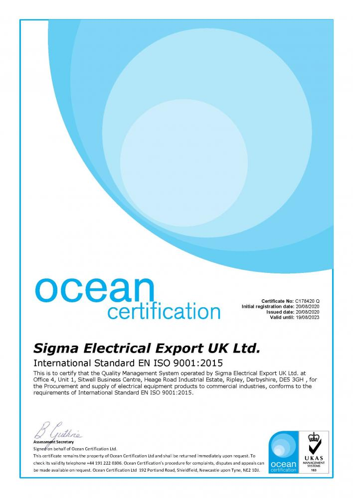 WE ARE NOW ISO: 9001 CERTIFIED
